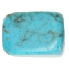 Turquoise Reconstructed 10x16mm Square Drop Semi-Precious